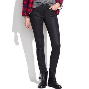 Madewell • Black Coated High Riser Skinny Jeans